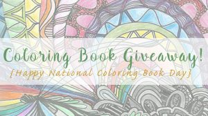 Coloring Book Giveaway!